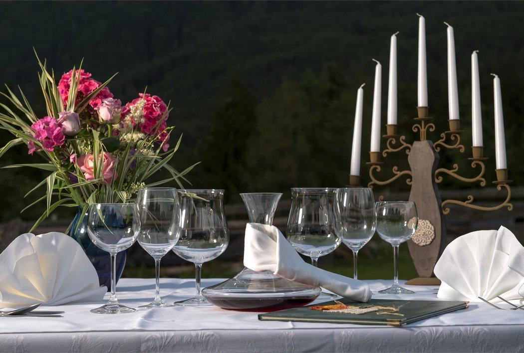 Romantische Abendröte untern Schlern