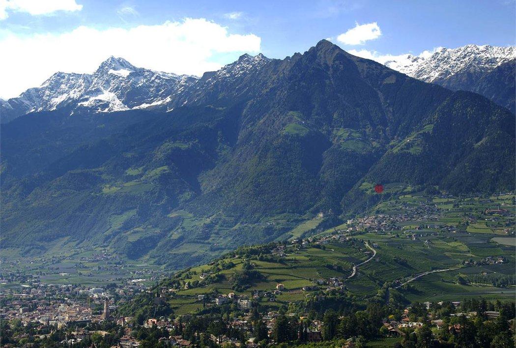 Meran, Dorf Tirol und der Naturpark Texelgruppe