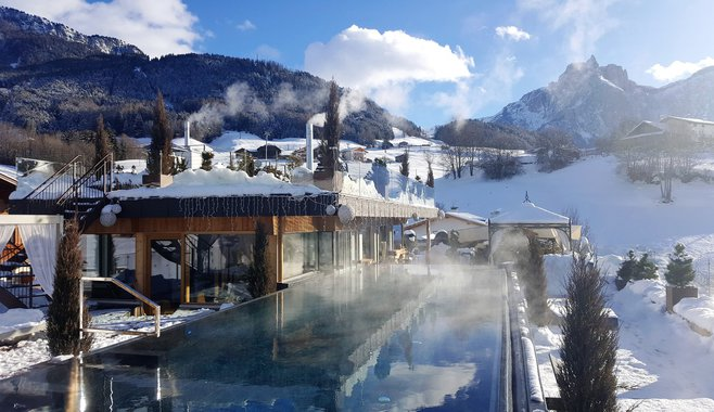 ABINEA Dolomiti Romantic SPA Hotel - Panoramic SKY Pool on the roof top