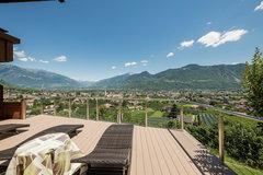 giardino con vista panoramica a Lana- Alto Adige