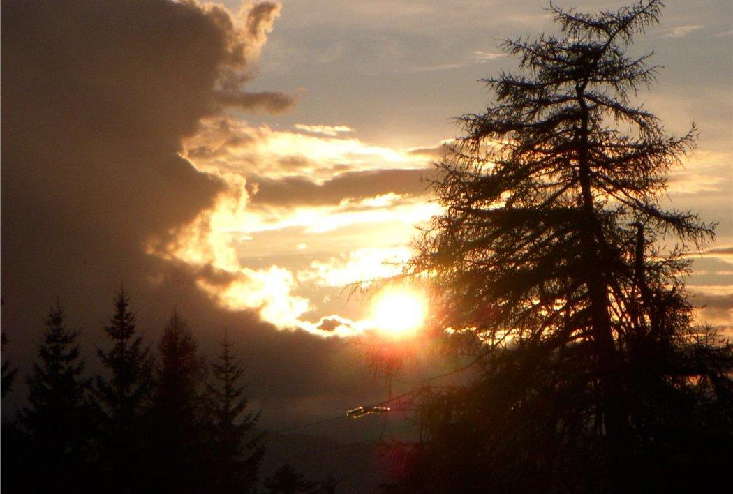 Sonnenuntergang auf den Schneiderwiesen