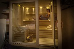 Unsere neue Sauna - Hotel Alber, Vöran