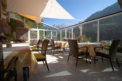 terrasse with view to the Catinaccio - Domites - Edelweiss - Tires