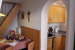 Appartment Küche und Wohnzimmer
